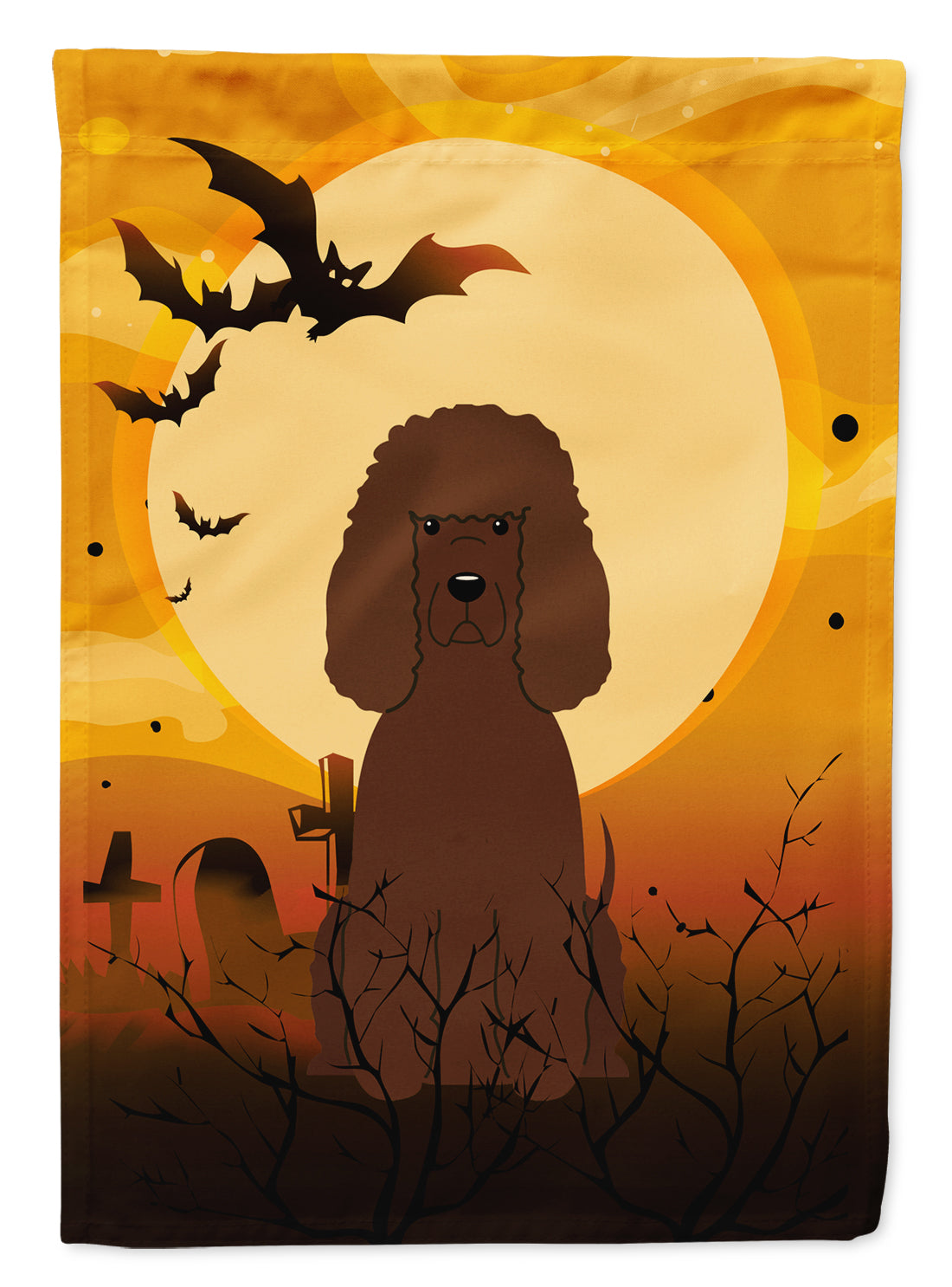 Halloween Irish Water Spaniel Flag Canvas House Size BB4329CHF by Caroline's Treasures