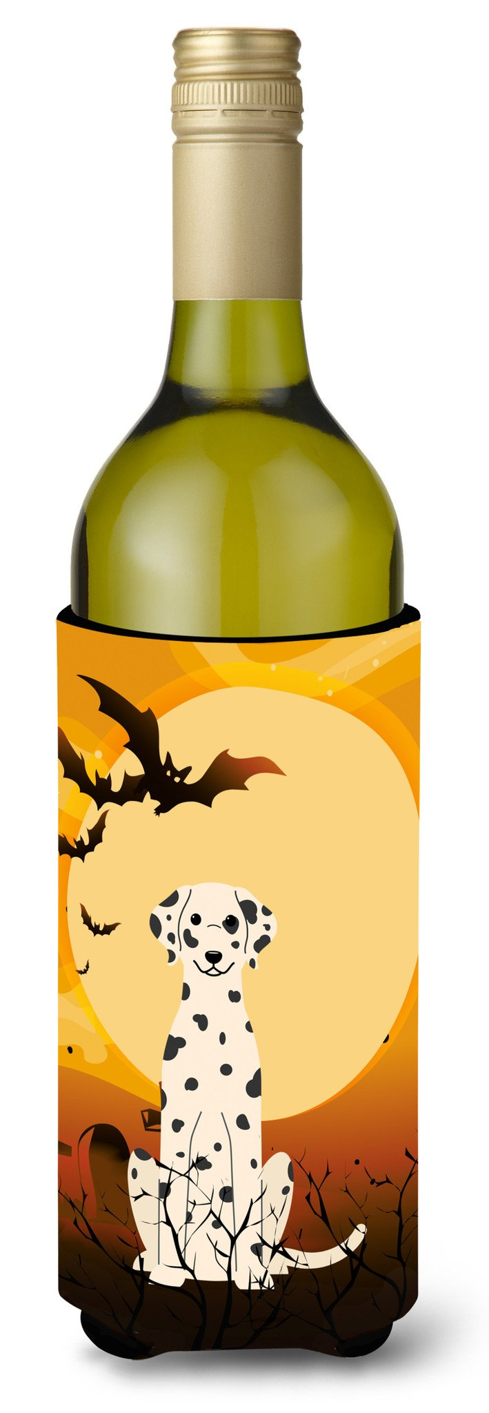 Halloween Dalmatian Wine Bottle Beverge Insulator Hugger BB4363LITERK by Caroline's Treasures