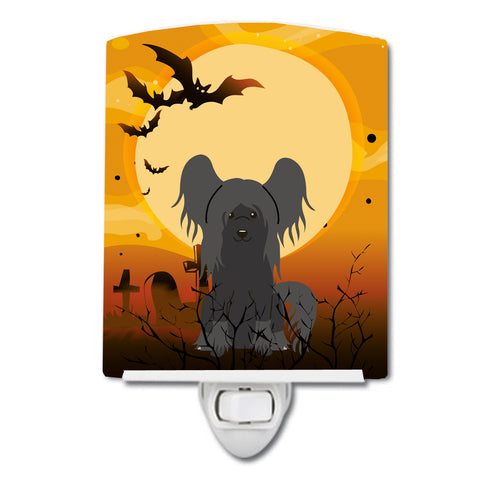 Buy this Halloween Chinese Crested Black Ceramic Night Light BB4378CNL