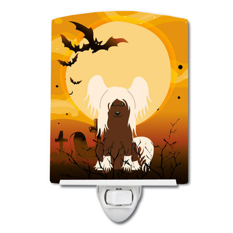 Buy this Halloween Chinese Crested Cream Ceramic Night Light BB4379CNL