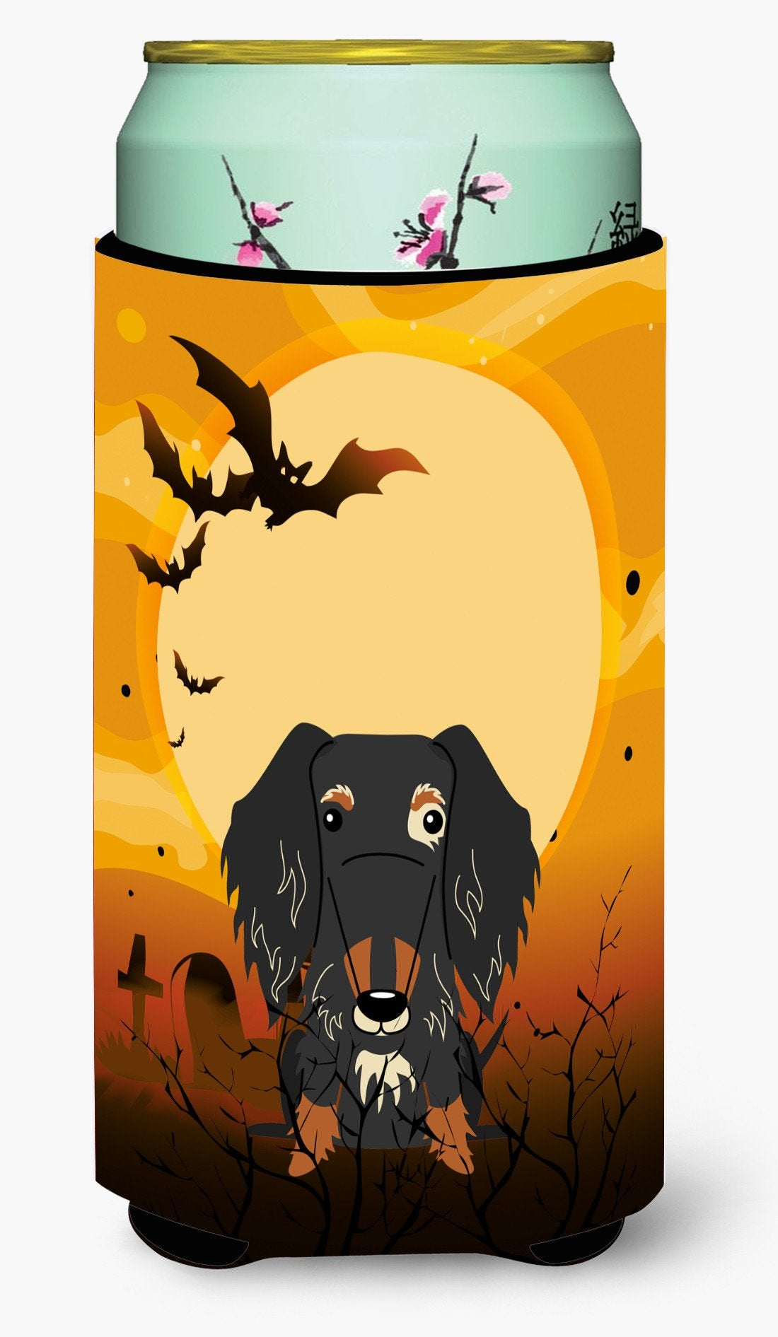 Buy this Halloween Wire Haired Dachshund Dapple Tall Boy Beverage Insulator Hugger BB4394TBC