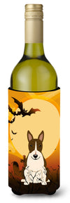 Buy this Halloween Bull Terrier Dark Brindle Wine Bottle Beverge Insulator Hugger BB4402LITERK