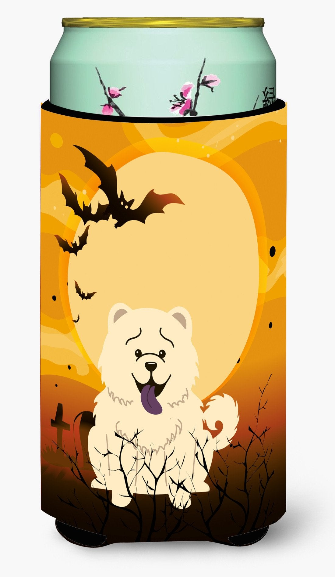 Halloween Chow Chow White Tall Boy Beverage Insulator Hugger BB4406TBC by Caroline's Treasures