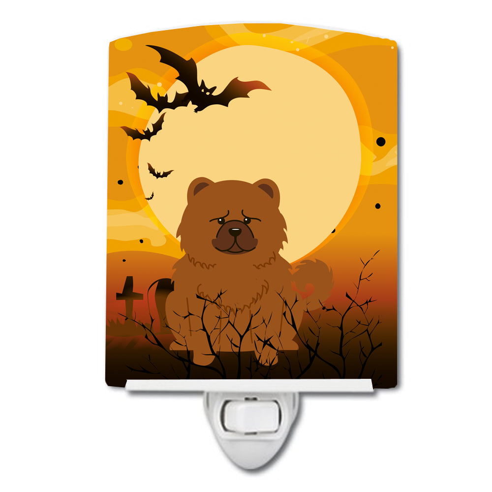 Halloween Chow Chow Red Ceramic Night Light BB4408CNL by Caroline's Treasures