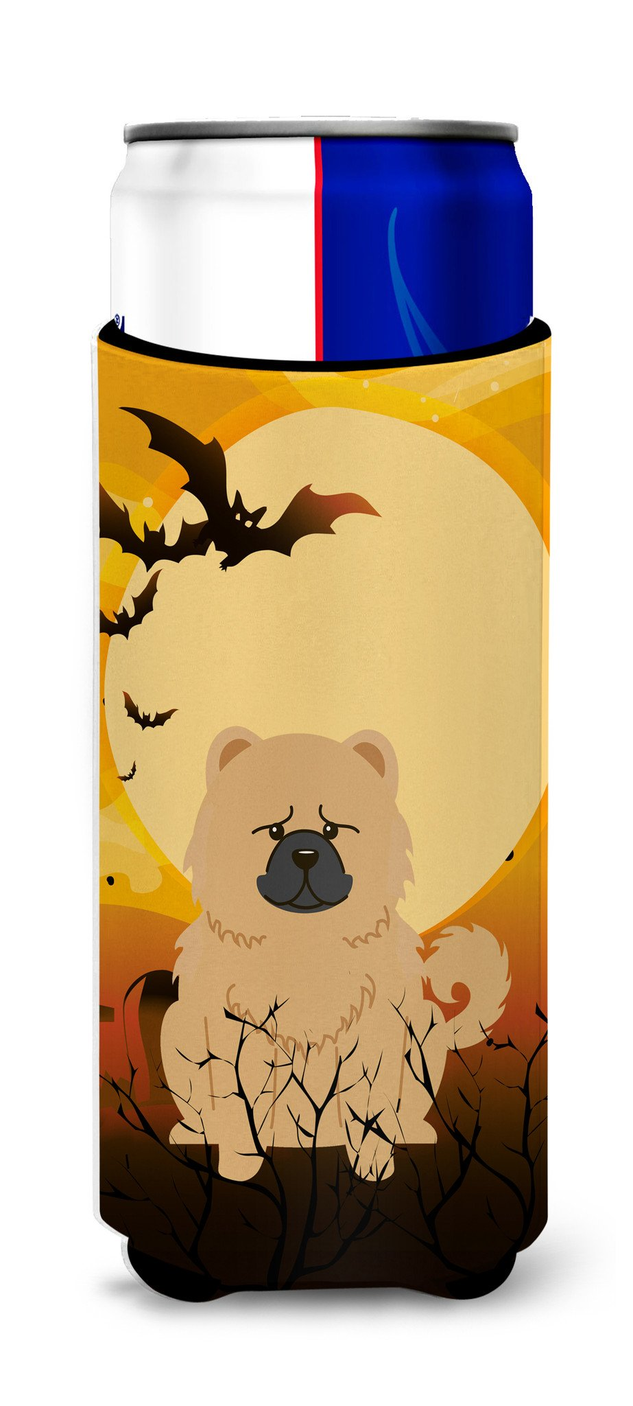 Halloween Chow Chow Cream Michelob Ultra Hugger for slim cans BB4410MUK by Caroline's Treasures