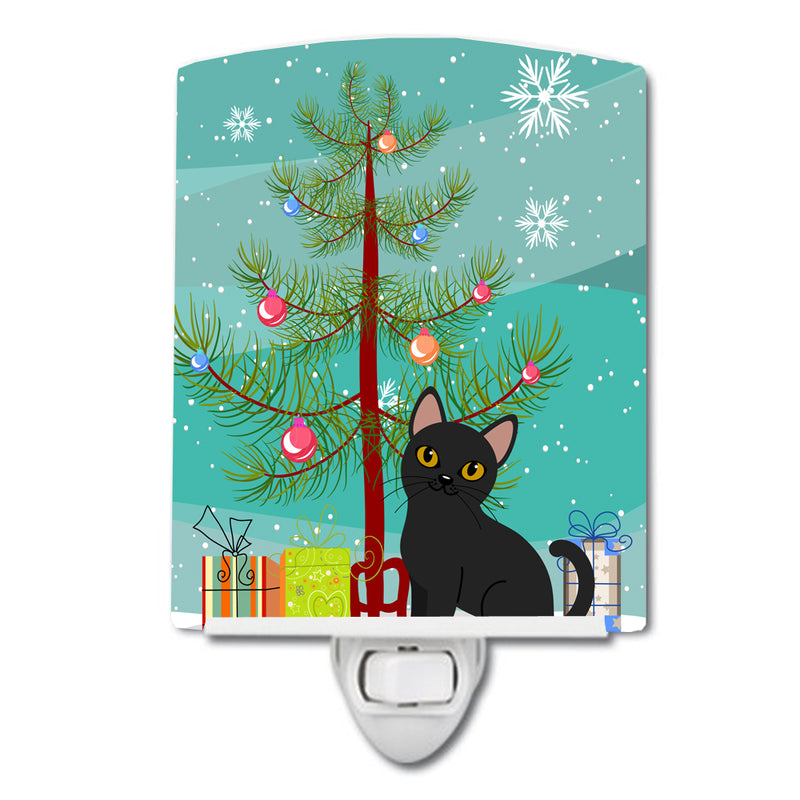 Buy this Bombay Cat Merry Christmas Tree Ceramic Night Light BB4417CNL