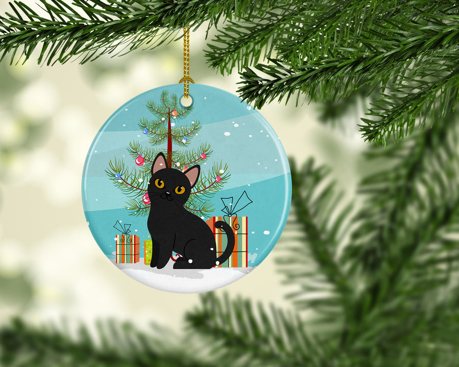Buy this Bombay Cat Merry Christmas Tree Ceramic Ornament BB4417CO1