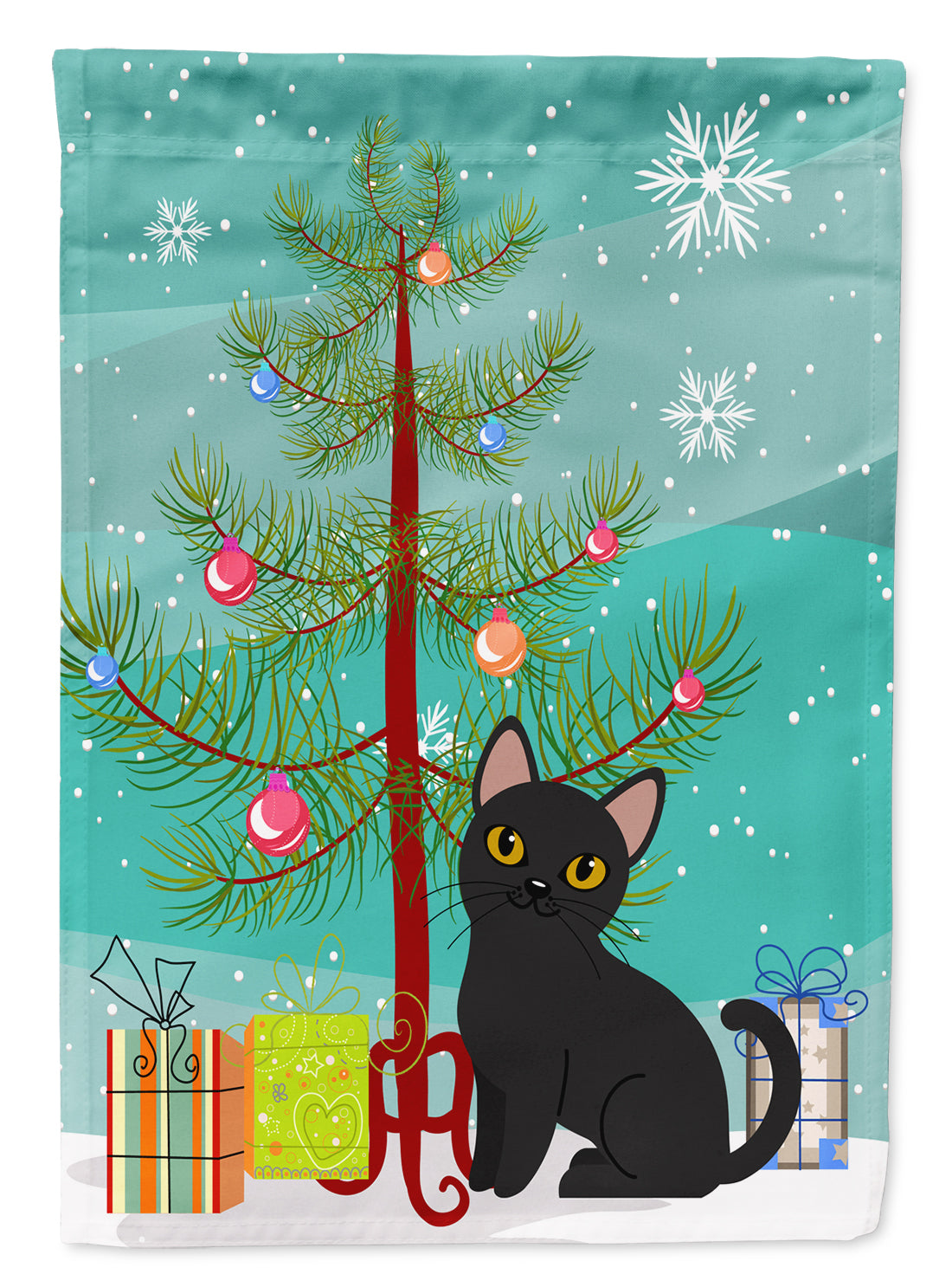 Buy this Bombay Cat Merry Christmas Tree Flag Garden Size BB4417GF