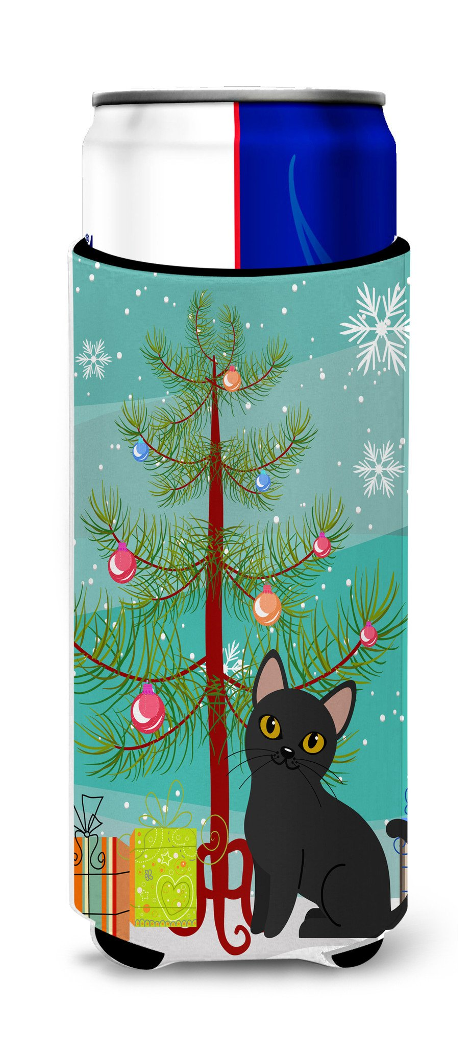 Buy this Bombay Cat Merry Christmas Tree Michelob Ultra Hugger for slim cans BB4417MUK