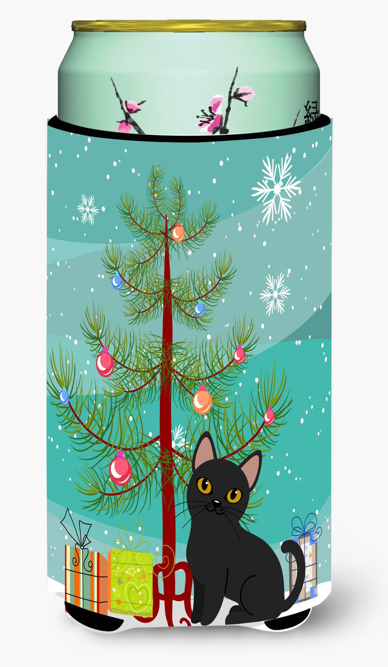 Buy this Bombay Cat Merry Christmas Tree Tall Boy Beverage Insulator Hugger BB4417TBC