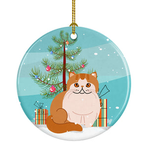 Buy this Exotic Shorthair Cat Merry Christmas Tree Ceramic Ornament BB4419CO1