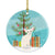 Buy this Foreign White Cat Merry Christmas Tree Ceramic Ornament BB4420CO1