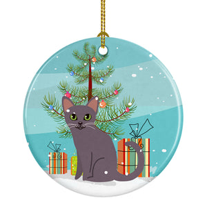 Buy this Korat Cat Merry Christmas Tree Ceramic Ornament BB4422CO1