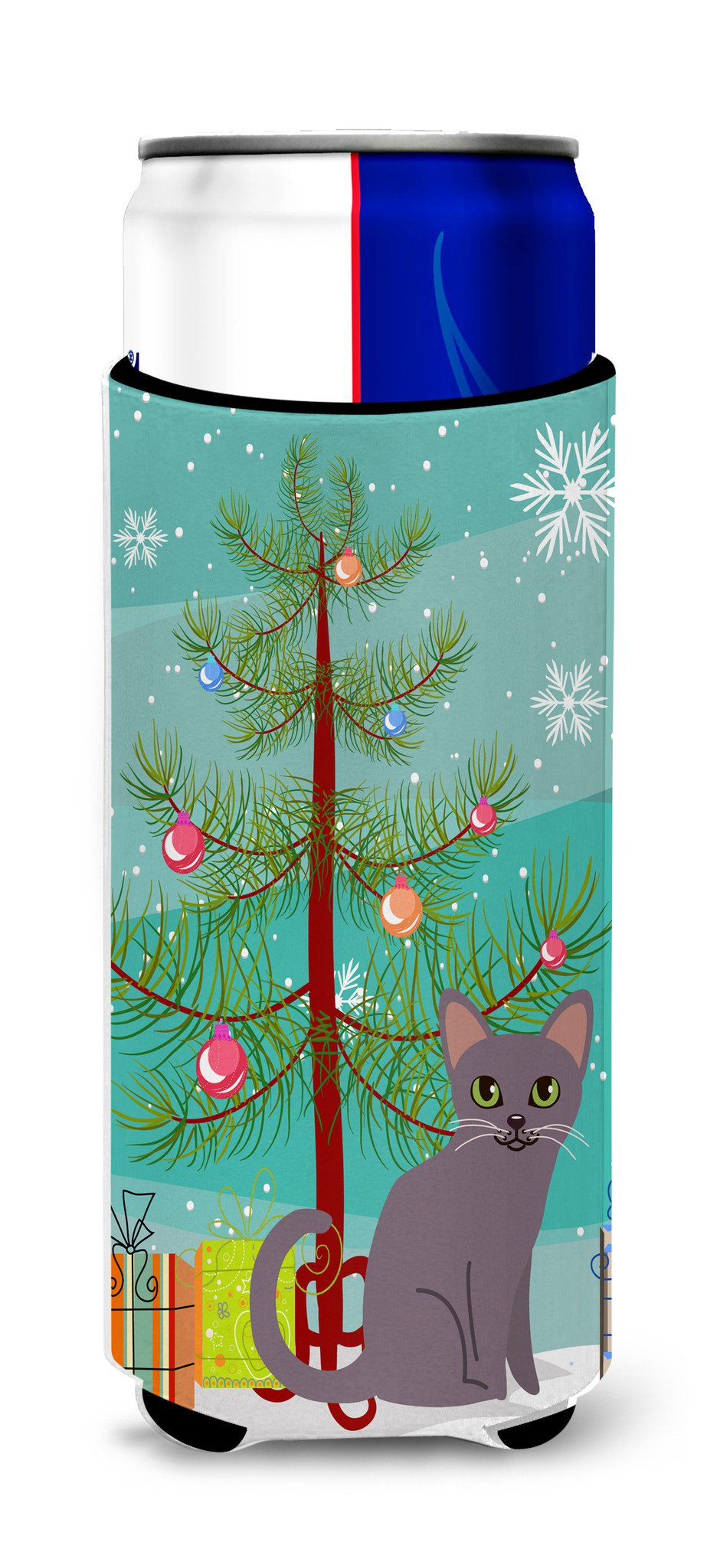 Korat Cat Merry Christmas Tree Michelob Ultra Hugger for slim cans BB4422MUK by Caroline's Treasures