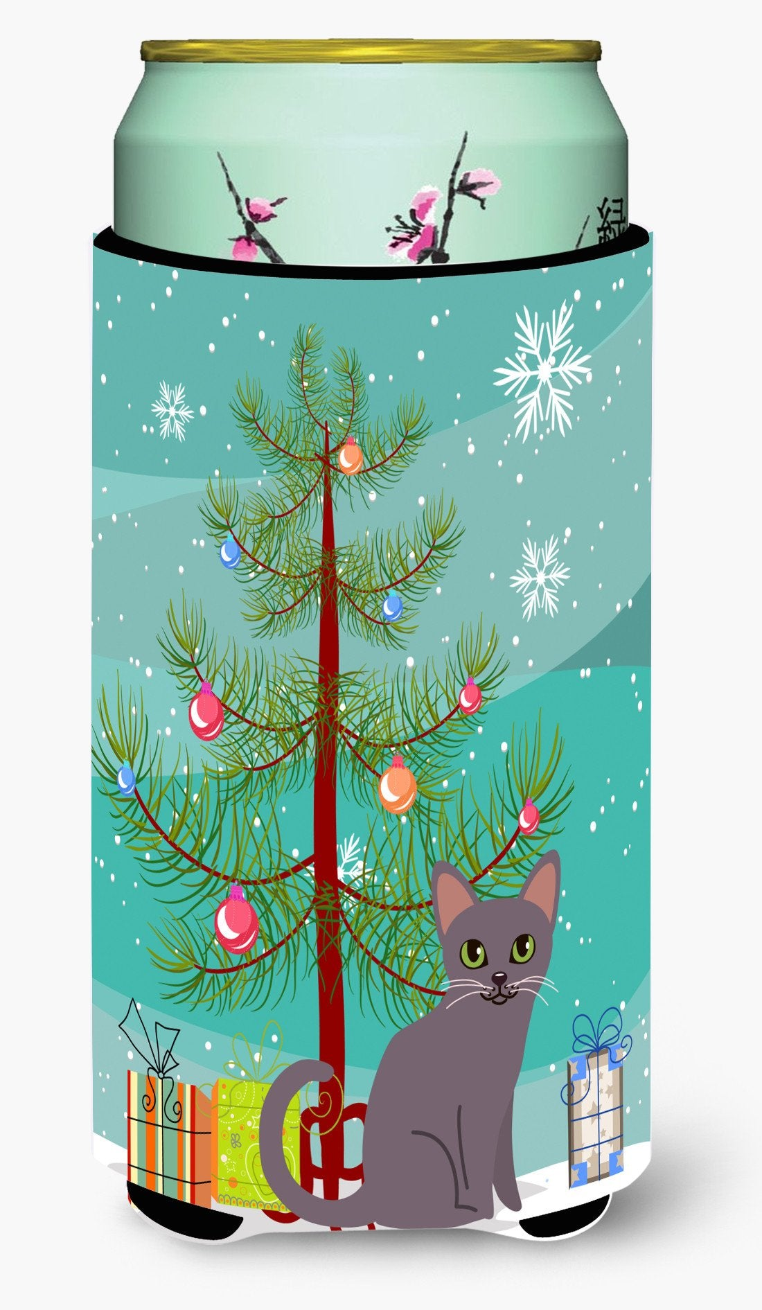 Korat Cat Merry Christmas Tree Tall Boy Beverage Insulator Hugger BB4422TBC by Caroline's Treasures