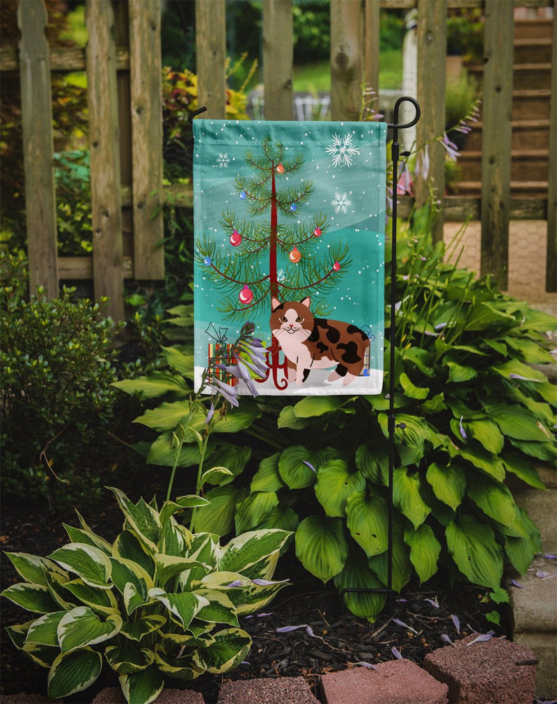 Buy this Manx Cat Merry Christmas Tree Flag Garden Size BB4424GF