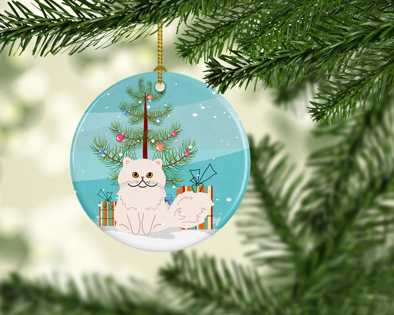 Buy this Persian Cat Merry Christmas Tree Ceramic Ornament BB4425CO1