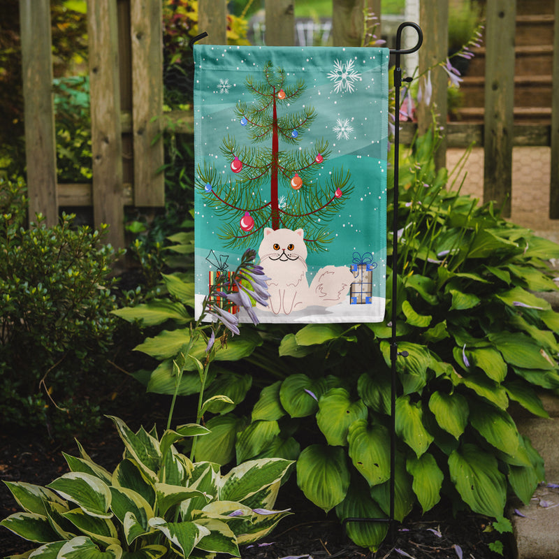 Buy this Persian Cat Merry Christmas Tree Flag Garden Size BB4425GF