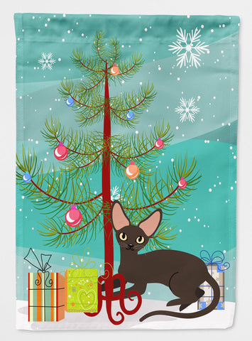 Buy this Peterbald Cat Merry Christmas Tree Flag Garden Size BB4426GF
