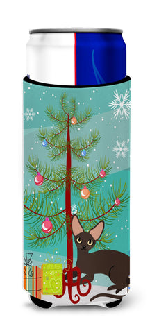 Buy this Peterbald Cat Merry Christmas Tree Michelob Ultra Hugger for slim cans BB4426MUK