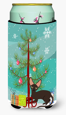 Buy this Peterbald Cat Merry Christmas Tree Tall Boy Beverage Insulator Hugger BB4426TBC