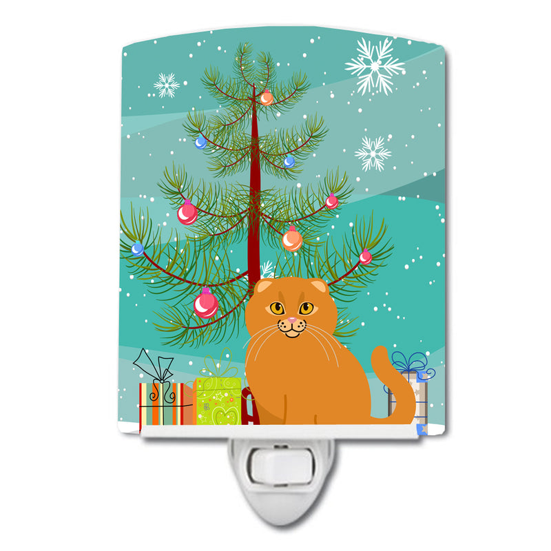 Buy this Scottish Fold Cat Merry Christmas Tree Ceramic Night Light BB4428CNL