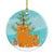 Buy this Scottish Fold Cat Merry Christmas Tree Ceramic Ornament BB4428CO1