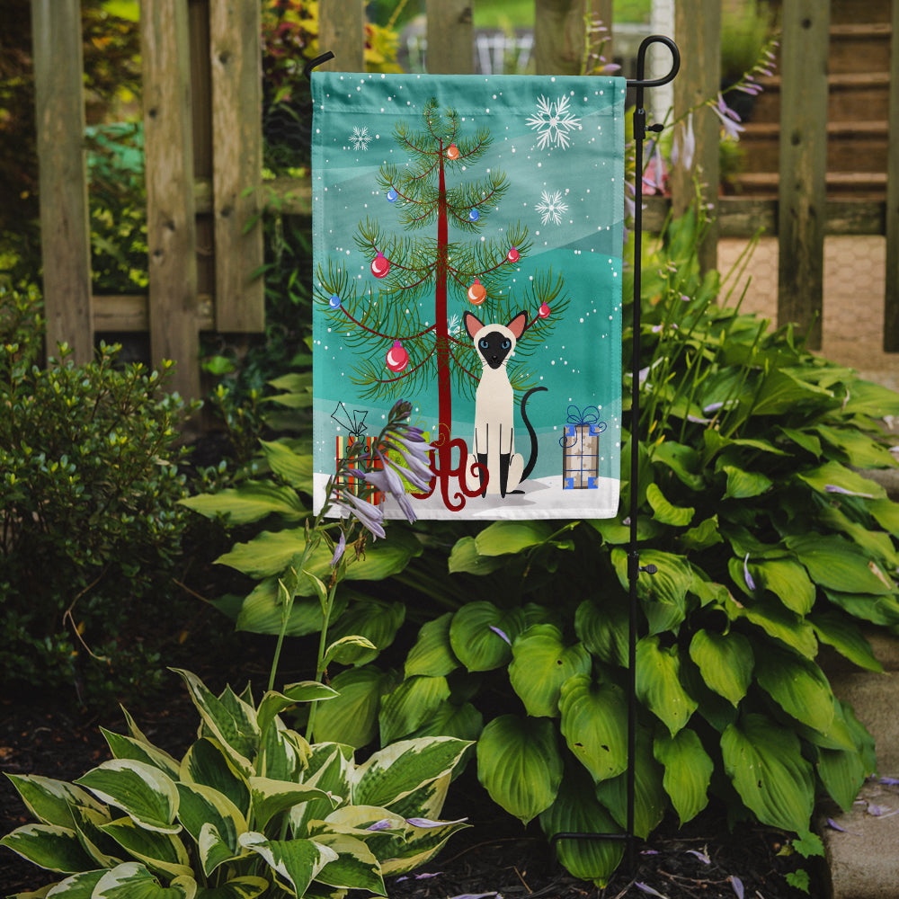 Siamese Cat Merry Christmas Tree Flag Garden Size BB4429GF by Caroline's Treasures