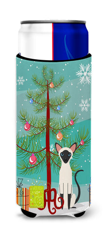 Buy this Siamese Cat Merry Christmas Tree Michelob Ultra Hugger for slim cans BB4429MUK