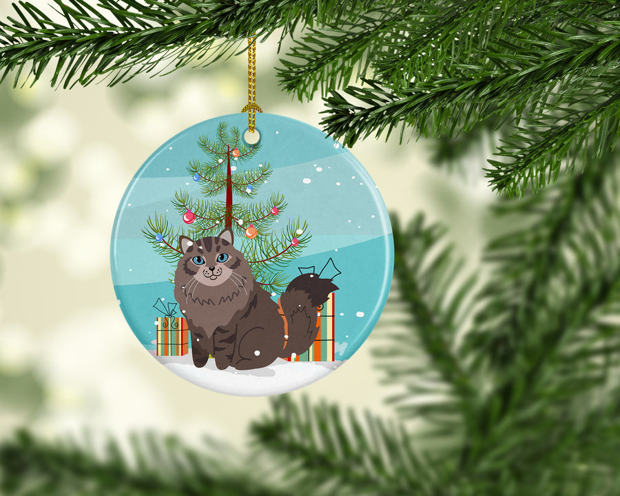 Buy this Siberian Cat Merry Christmas Tree Ceramic Ornament BB4430CO1