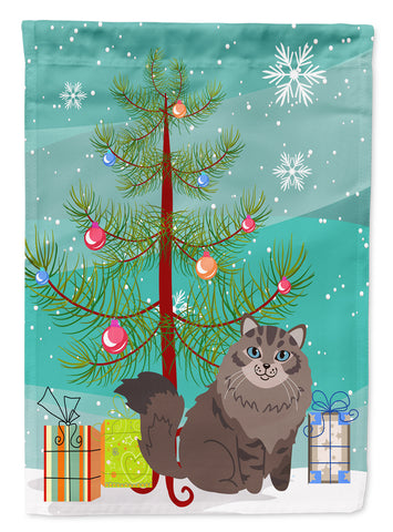 Buy this Siberian Cat Merry Christmas Tree Flag Garden Size BB4430GF