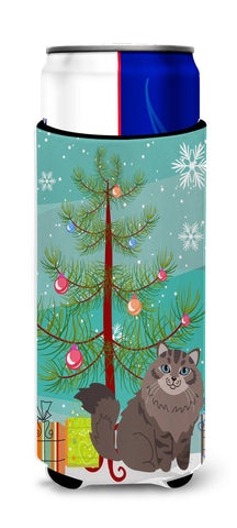 Buy this Siberian Cat Merry Christmas Tree Michelob Ultra Hugger for slim cans BB4430MUK
