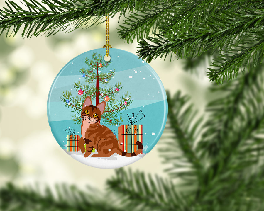 Buy this Sokoke Cat Merry Christmas Tree Ceramic Ornament BB4431CO1