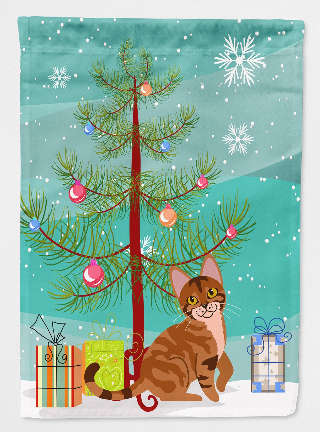 Buy this Sokoke Cat Merry Christmas Tree Flag Garden Size BB4431GF