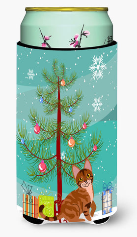 Buy this Sokoke Cat Merry Christmas Tree Tall Boy Beverage Insulator Hugger BB4431TBC