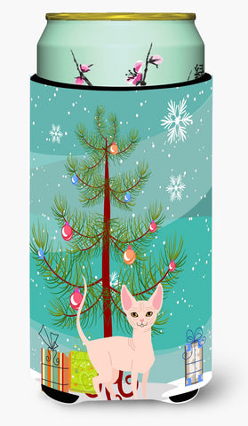 Buy this Sphynx Cat Merry Christmas Tree Tall Boy Beverage Insulator Hugger BB4432TBC