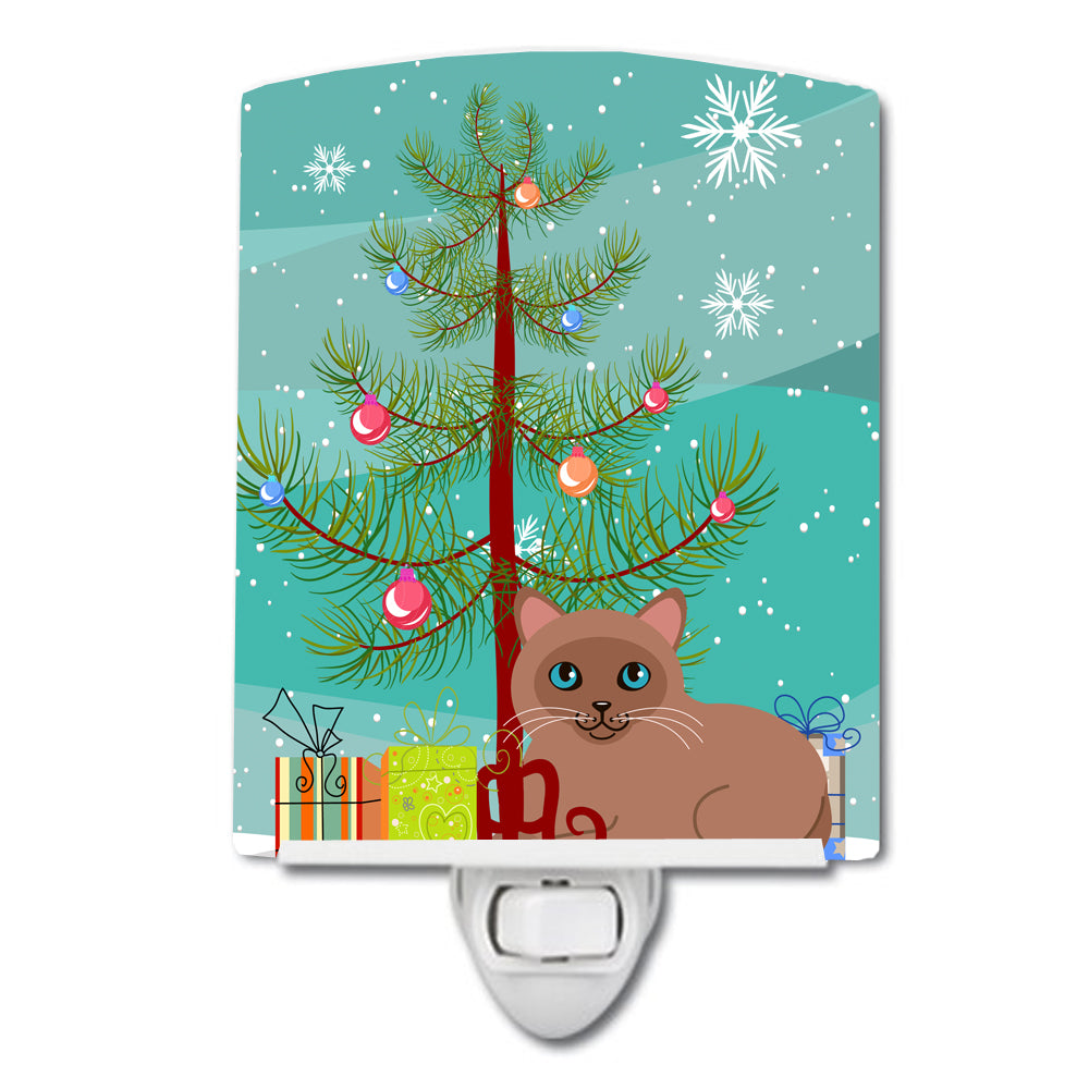 Buy this Tonkinese Cat Merry Christmas Tree Ceramic Night Light BB4433CNL