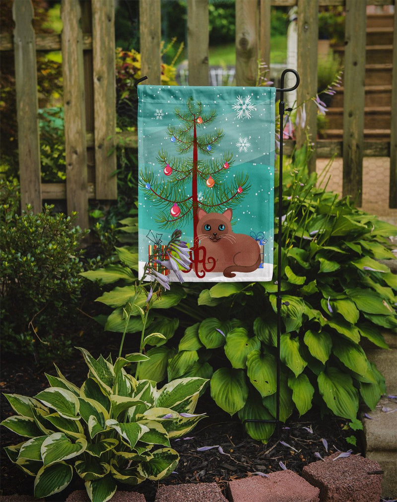 Buy this Tonkinese Cat Merry Christmas Tree Flag Garden Size BB4433GF