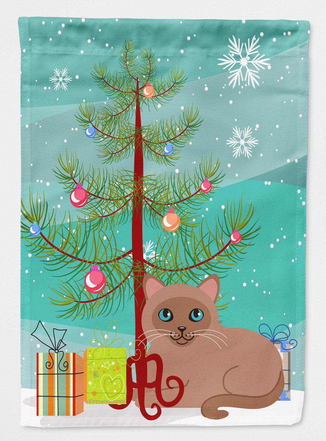 Tonkinese Cat Merry Christmas Tree Flag Garden Size BB4433GF by Caroline's Treasures