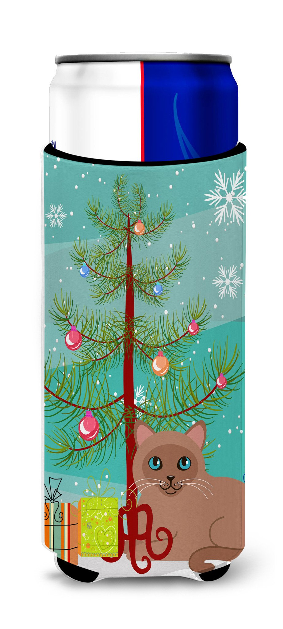 Tonkinese Cat Merry Christmas Tree Michelob Ultra Hugger for slim cans BB4433MUK by Caroline's Treasures