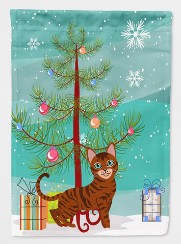Buy this Toyger Cat Merry Christmas Tree Flag Garden Size BB4434GF