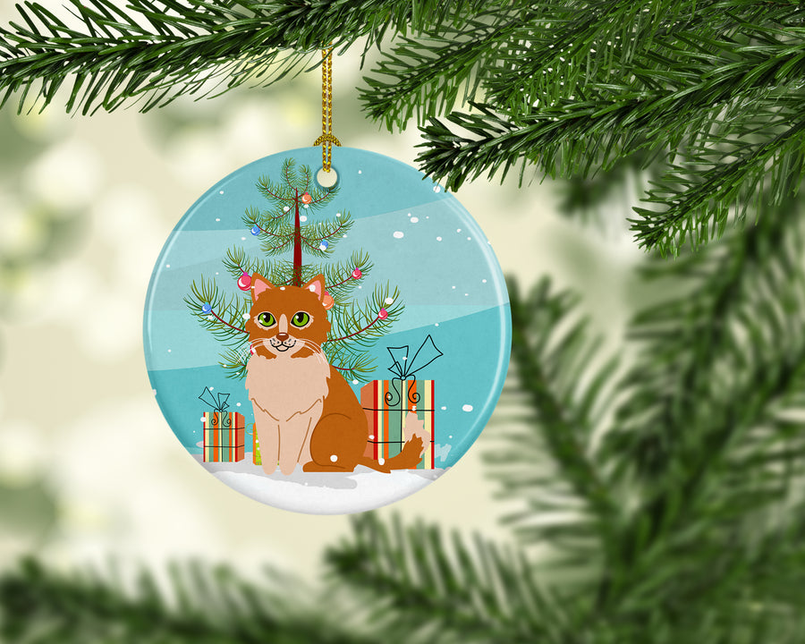 Buy this  Merry Christmas Tree Ural Rex Cat Ceramic Ornament BB4435CO1
