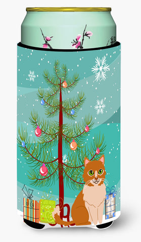Buy this  Merry Christmas Tree Ural Rex Cat Tall Boy Beverage Insulator Hugger BB4435TBC