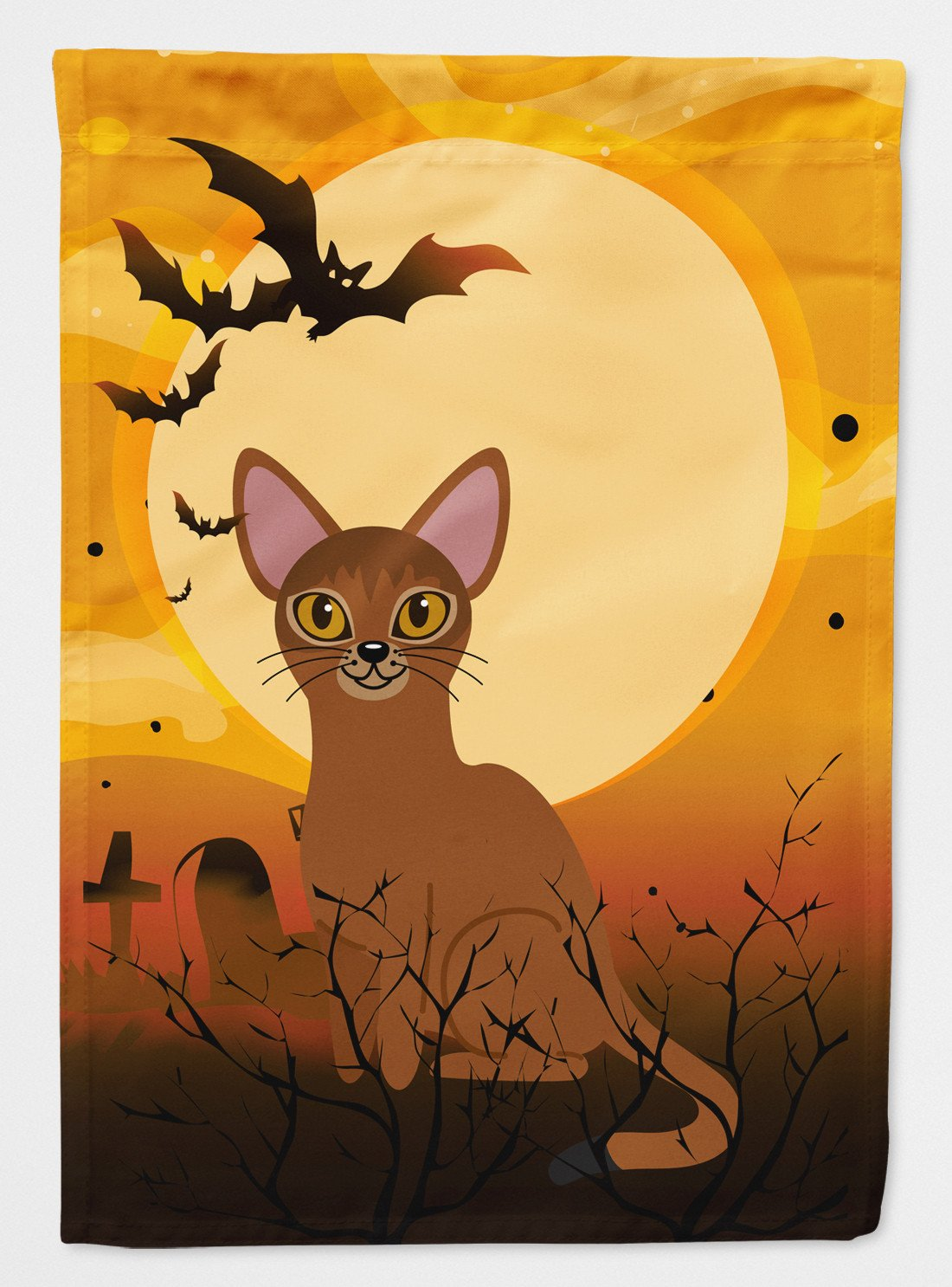 Buy this Halloween Abyssinian Cat Flag Garden Size BB4436GF