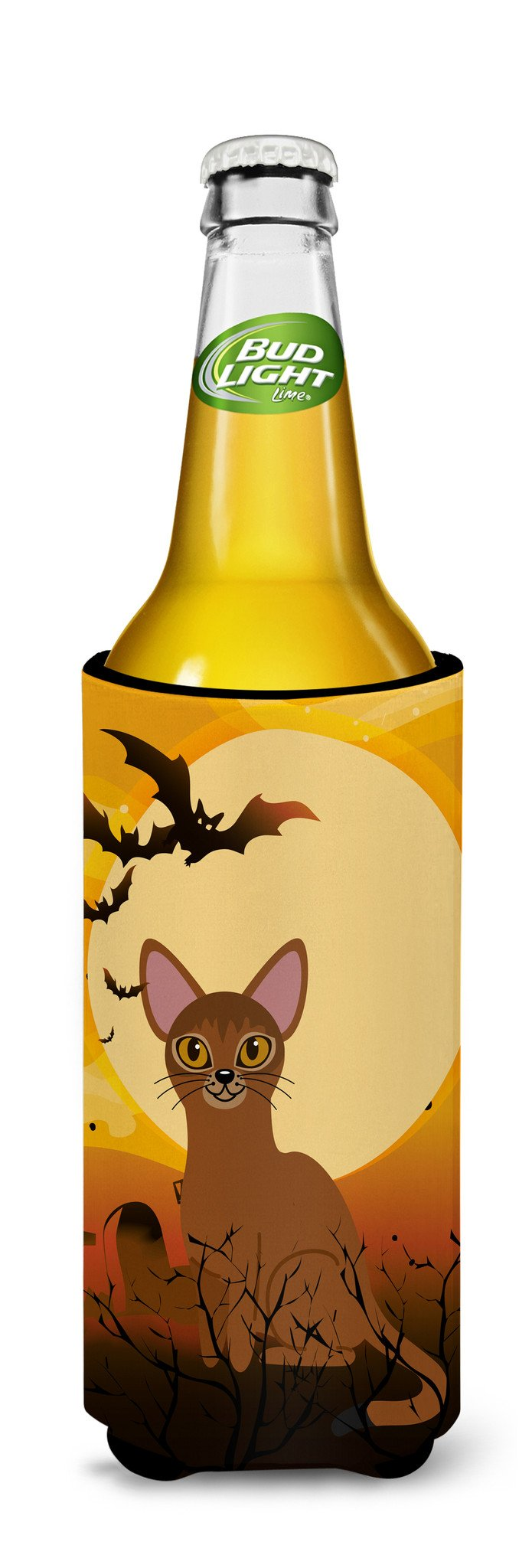 Buy this Halloween Abyssinian Cat Michelob Ultra Hugger for slim cans BB4436MUK