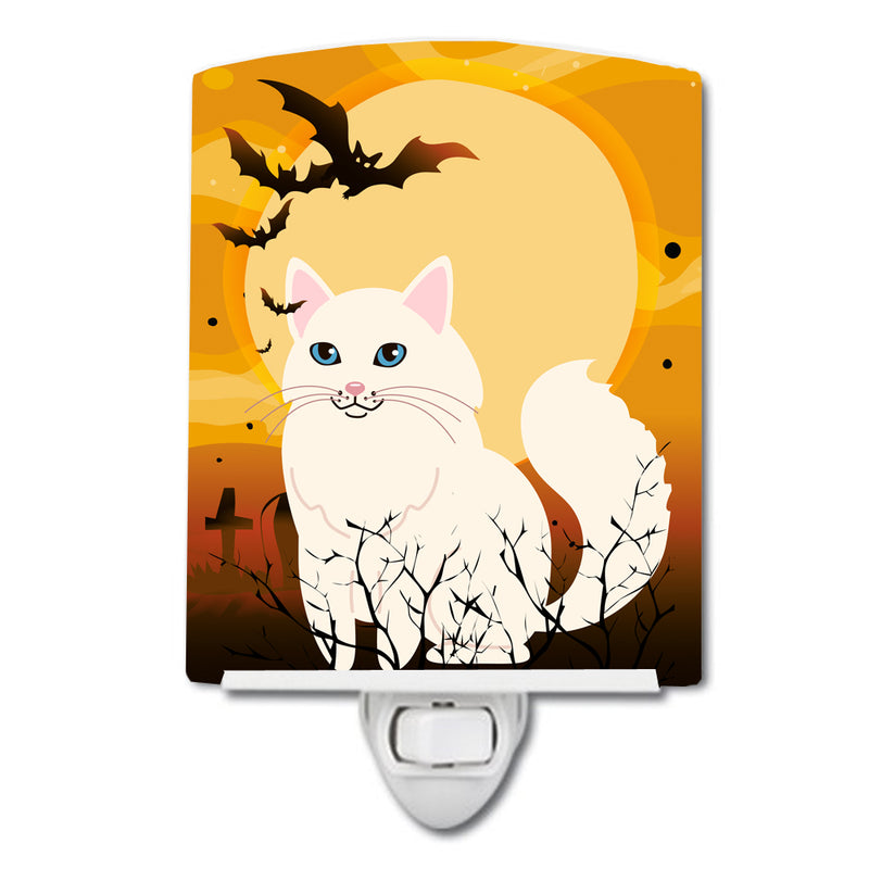 Buy this Halloween Turkish Angora Cat Ceramic Night Light BB4438CNL