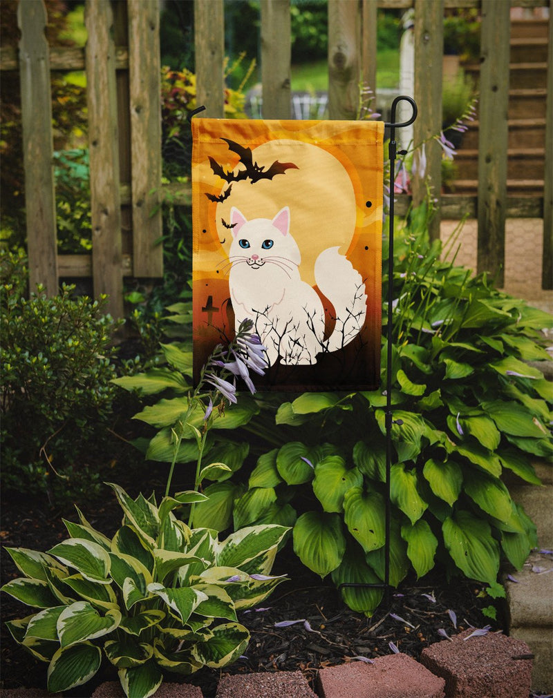 Buy this Halloween Turkish Angora Cat Flag Garden Size BB4438GF