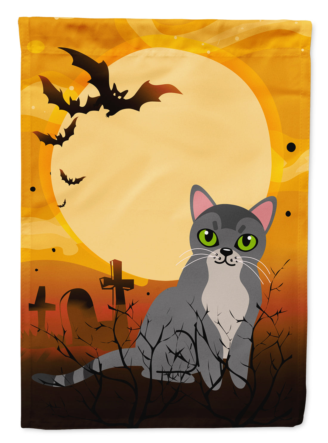 Halloween Asian Cat Flag Canvas House Size BB4439CHF by Caroline's Treasures