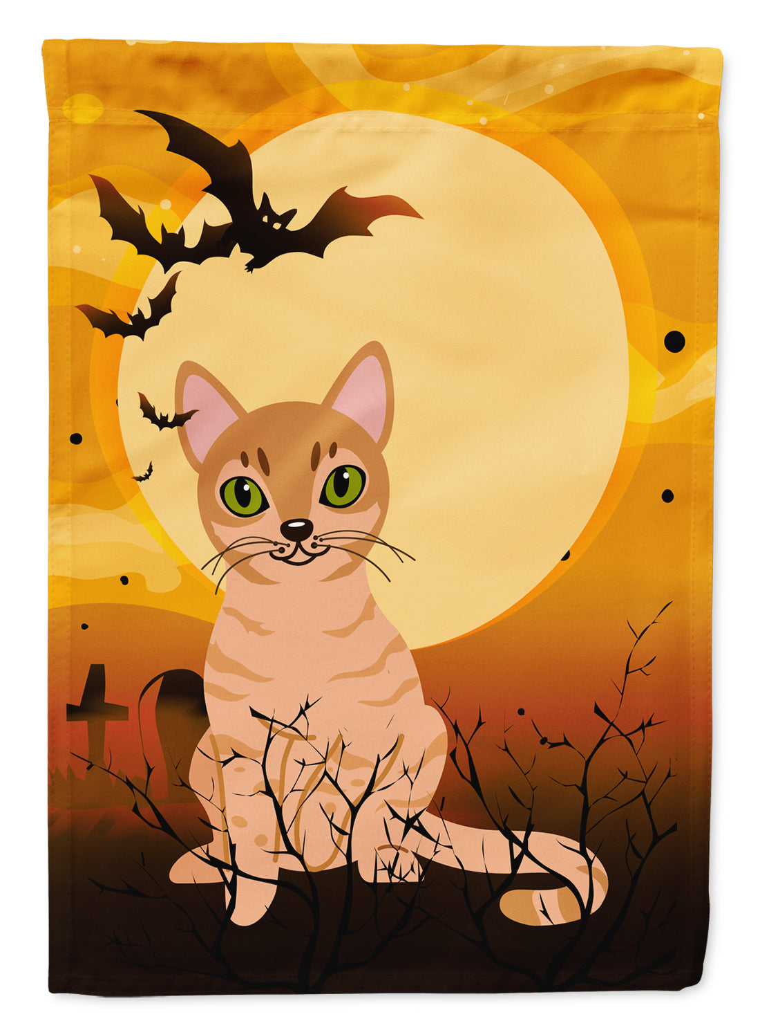 Halloween Australian Mist Cat Flag Canvas House Size BB4440CHF by Caroline's Treasures