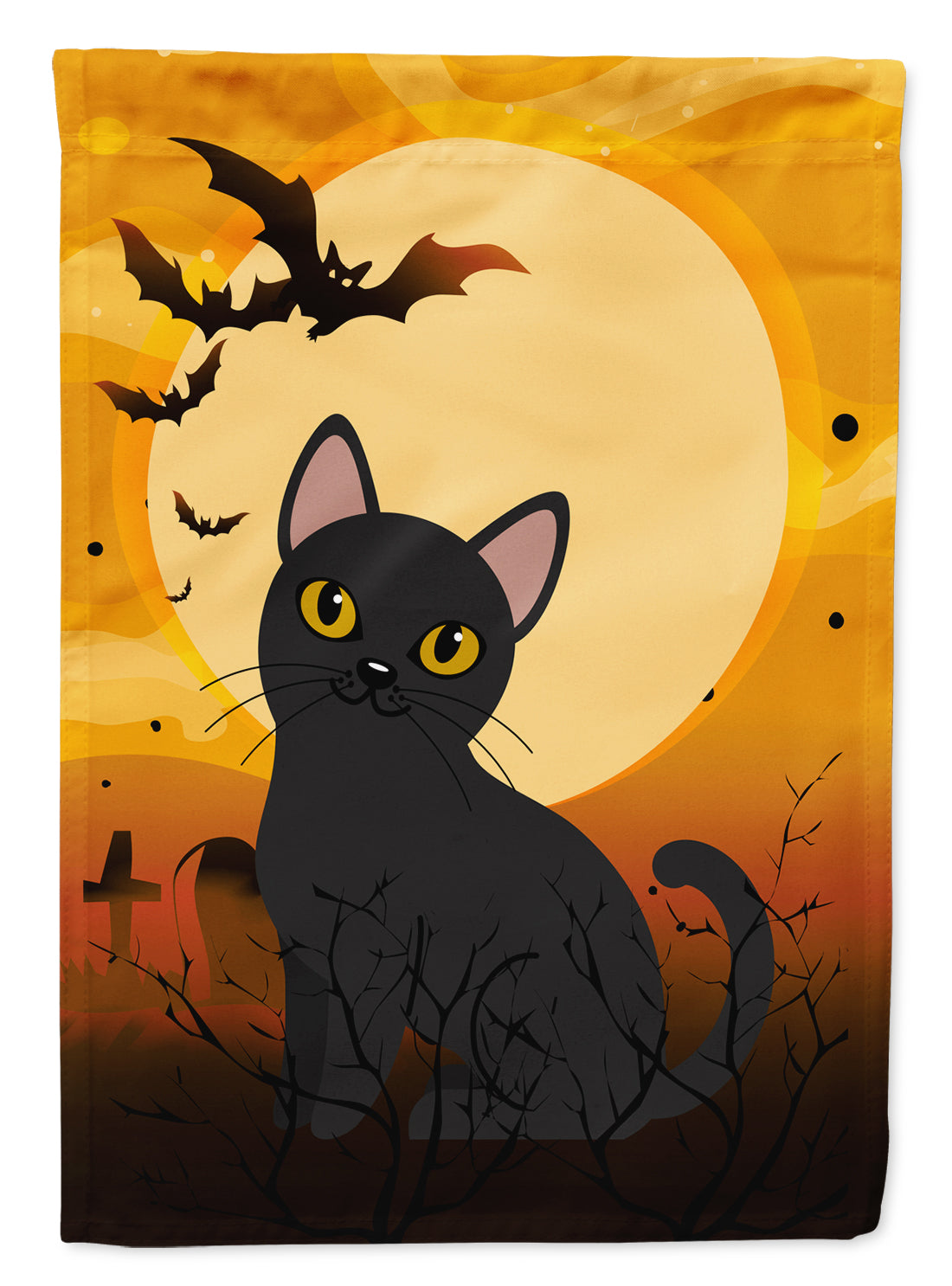 Halloween Bombay Cat Flag Canvas House Size BB4442CHF by Caroline's Treasures